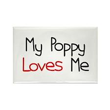 My Poppy Loves Me Rectangle Magnet