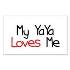 My YaYa Loves Me Rectangle Bumper Stickers