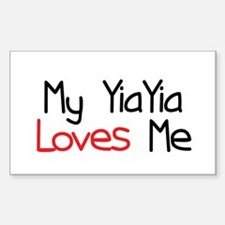 My YiaYia Loves Me Rectangle Decal