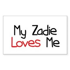 My Zadie Loves Me Rectangle Decal