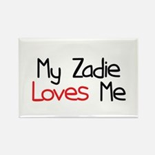 My Zadie Loves Me Rectangle Magnet