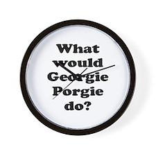 Georgie Porgie Wall Clock