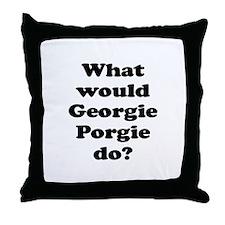 Georgie Porgie Throw Pillow