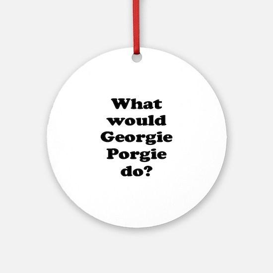 Georgie Porgie Ornament (Round)