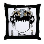 Power Family Crest Throw Pillow