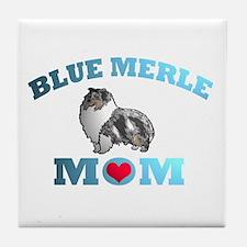 Blue Merle Sheltie Tile Coaster