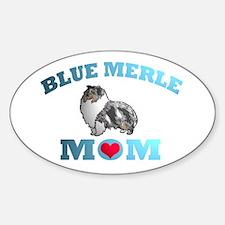 Blue Merle Sheltie Oval Decal