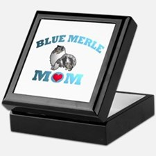Blue Merle Sheltie Keepsake Box