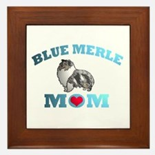 Blue Merle Sheltie Framed Tile