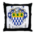 Prendergast Family Crest Throw Pillow