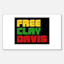 Free Clay Davis Rectangle Bumper Stickers