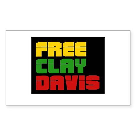 Free Clay Davis Rectangle Sticker