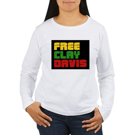 Free Clay Davis Women's Long Sleeve T-Shirt