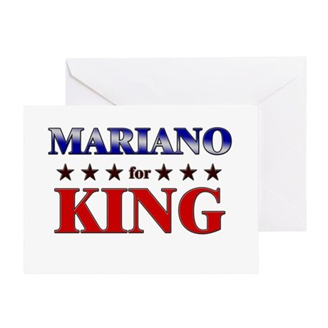 MARIANO for king Greeting Card