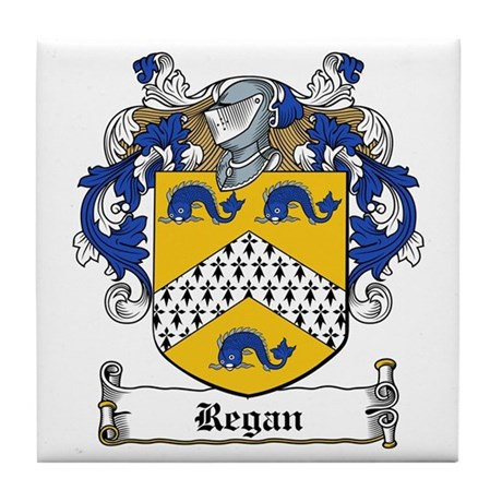 Regan Family Crest Tile Coaster