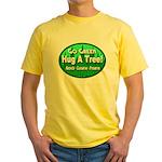Go Green Hug A Tree! Yellow T-Shirt