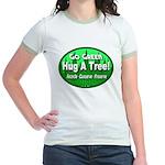 Go Green Hug A Tree! Jr. Ringer T-Shirt