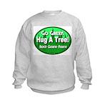 Go Green Hug A Tree! Kids Sweatshirt