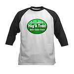Go Green Hug A Tree! Kids Baseball Jersey