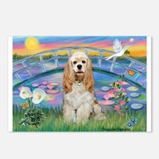 Lilies /Cocker Spaniel Postcards (Package of 8)