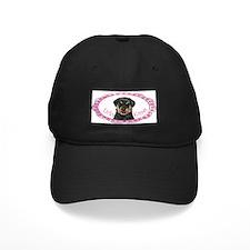 Rottweiler Valentine Baseball Cap