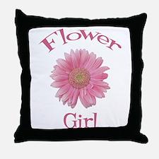 Daisy Flower Girl Throw Pillow