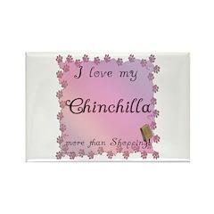 Chinchilla Shopping Rectangle Magnet
