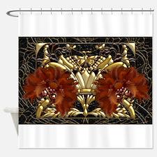 Harvest Moons Masquerade Masks Shower Curtain
