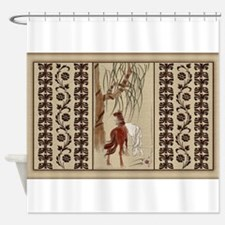 Harvest Moons Chinese Horses Shower Curtain