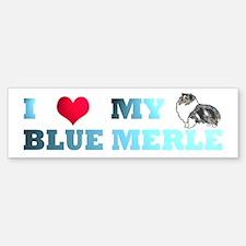 Blue Merle Sheltie Bumper Bumper Bumper Sticker
