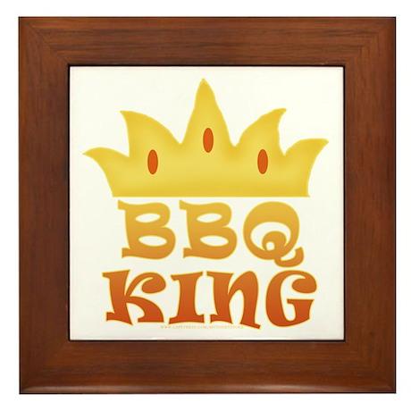 BBQ King Design Framed Tile