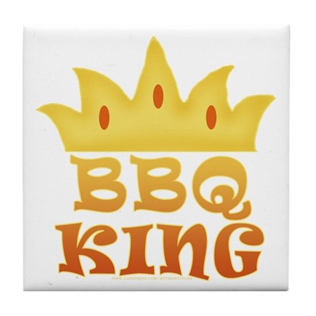 BBQ King Design Tile Coaster