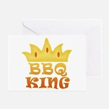 BBQ King Design Greeting Card