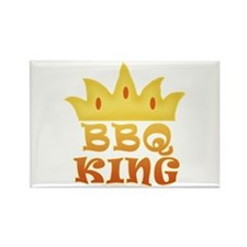 BBQ King Design Rectangle Magnet