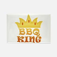 BBQ King Design Rectangle Magnet