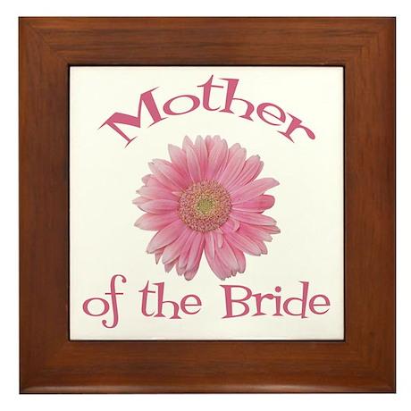 Daisy Mother of the Bride Framed Tile