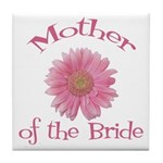 Daisy Mother of the Bride Tile Coaster