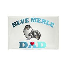 Blue Merle Sheltie Rectangle Magnet