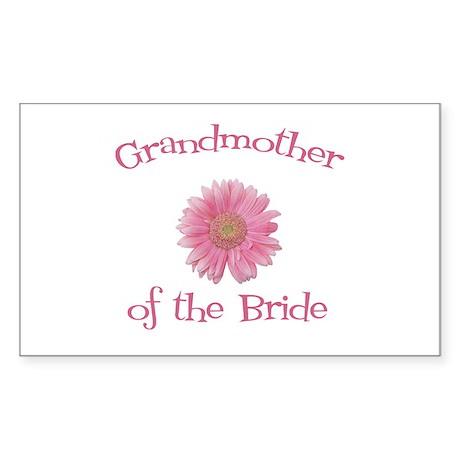 Daisy Bride's Grandmother Rectangle Sticker