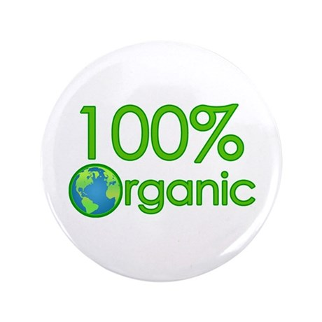 "100% Organic 3.5"" Button (100 pack)"