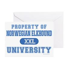 Norwegian Elkhound U Greeting Cards (Pk of 20)