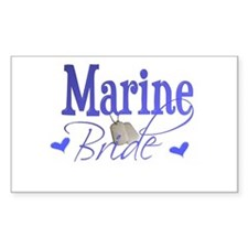 Marine Bride Rectangle Decal