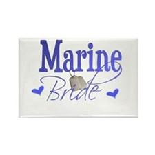 Marine Bride Rectangle Magnet