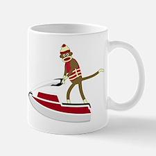 Sock Monkey Jet Ski Coffee Mug