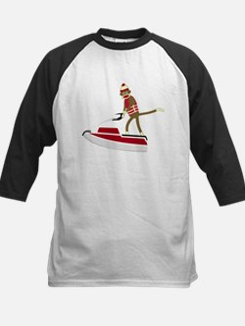 Sock Monkey Jet Ski Kids Baseball Jersey