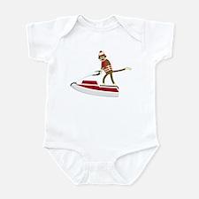Sock Monkey Jet Ski Infant Bodysuit