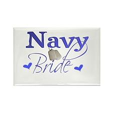 Navy Bride Rectangle Magnet