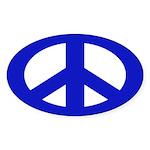 Blue Peace Sign (bumper sticker)