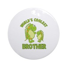 world's coolest brother dino Ornament (Round)