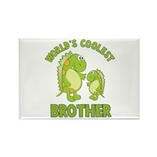 world's coolest brother dino Rectangle Magnet